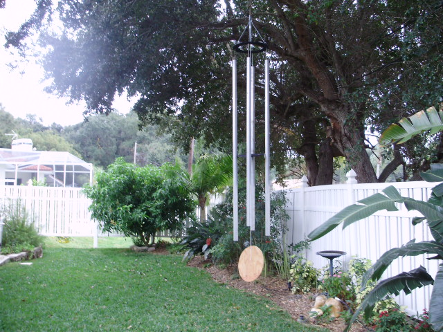 large aluminum wind chimes